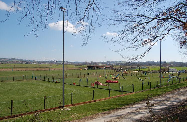Sono presenti 4 campi in erba attrezzati