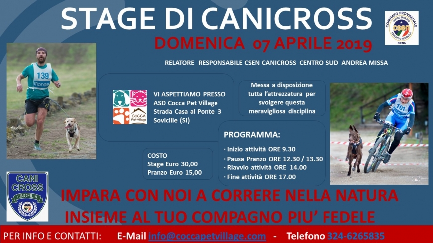 Stage di canicross