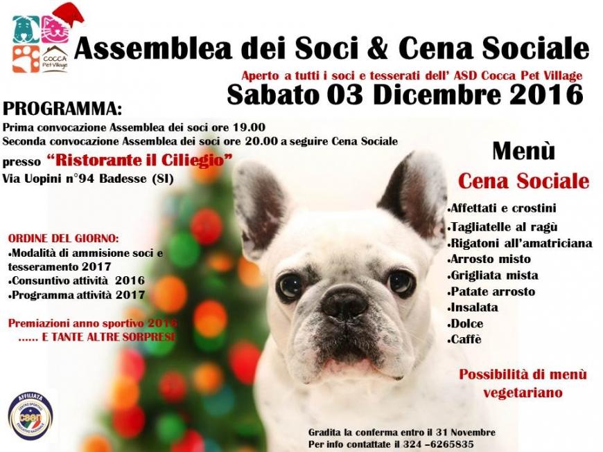 Assemblea dei Soci & Cena Sociale Dicembre 2016