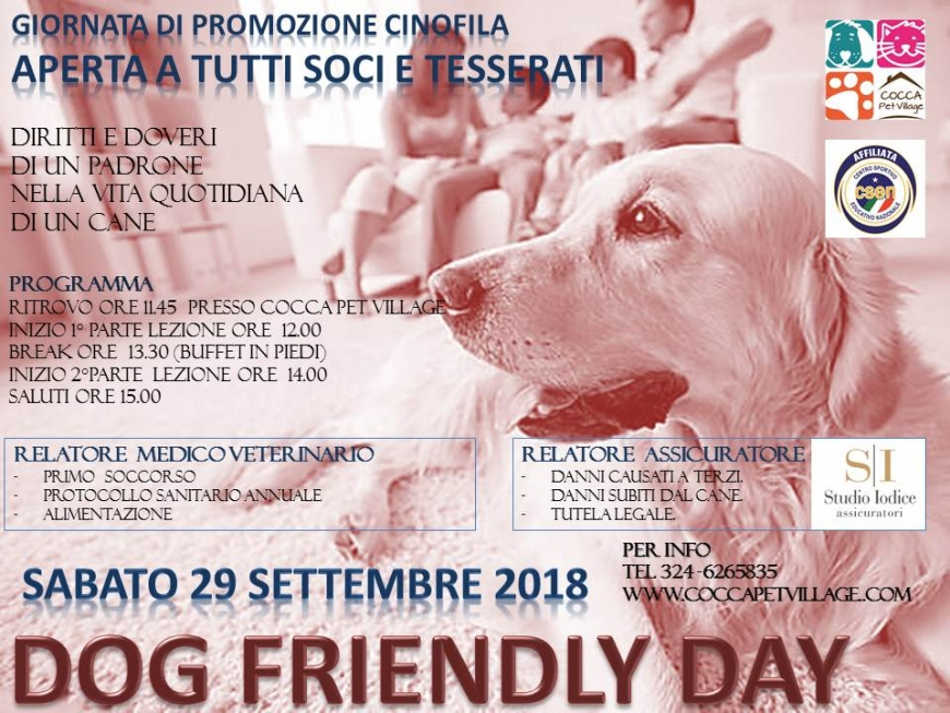 Dog Friendly day settembre 2018