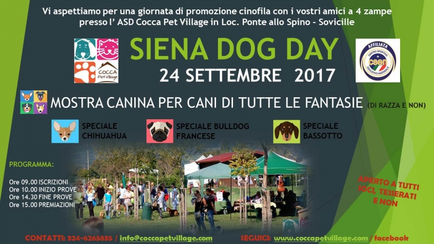Siena Dog Day Settembre 2017